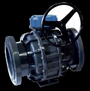 Válvula de Bola Bridada con Palanca de Engranaje LD-828-F0